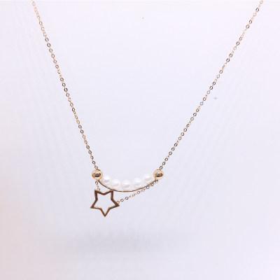 幸福积分 18K珍珠项链(星形)