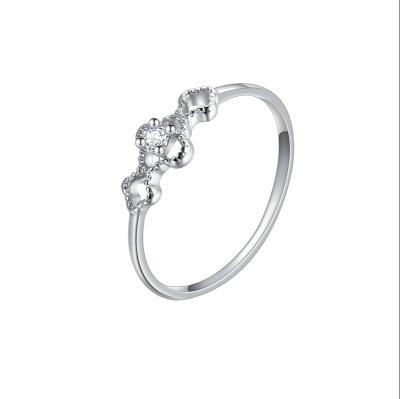 S925银戒指女单戒仿真钻戒求婚订婚结婚经典锆石 送女友情人 节日礼物