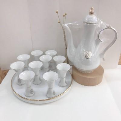 樽道--足银本色酒具-国宴陶瓷套装