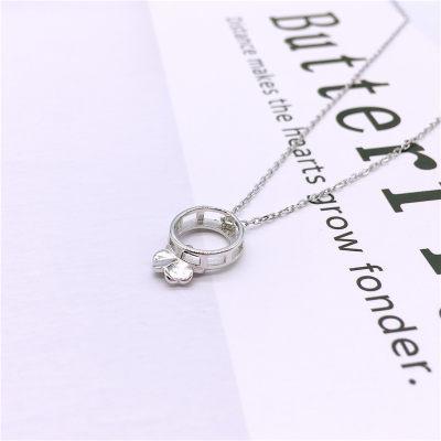 梦幻牡丹S925银素银套链