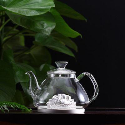 天官赐足银玻璃养生银壶-时来运转系列赠电陶炉套装