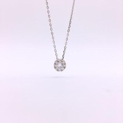 石之魅S925银合成立方氧化锆项链