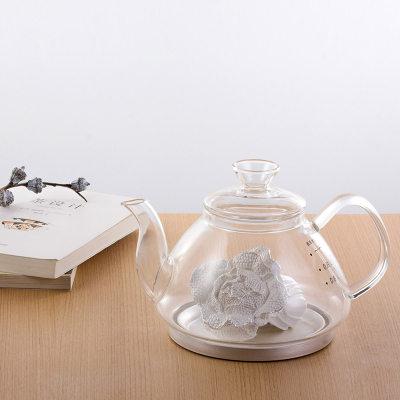 天官赐足银玻璃养生银壶-气吞百财系列赠电陶炉套装