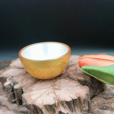 匠艺德-足银电黄金茶具-饮用环保杯