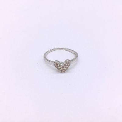 小情歌S925银电白素银戒指