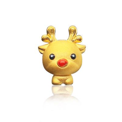 """幸福童谣-3D硬金 一""""鹿""""有你 创意立体小鹿手链串珠"""