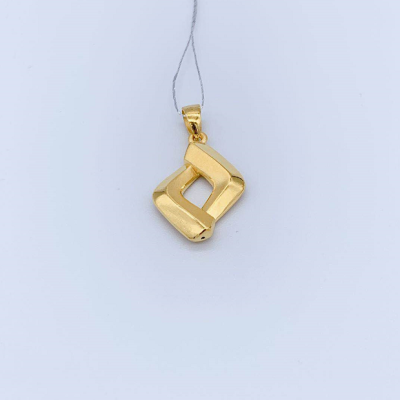 幸福心灵3D硬金素金吊坠 创意百搭简约时尚轻奢款吊坠