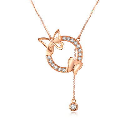 幸福寻梦系列18K金玫瑰色钻石套链