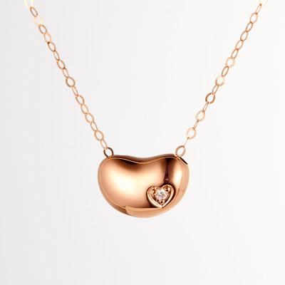 幸福奋斗-4D18K玫瑰金钻石套链 创意礼物