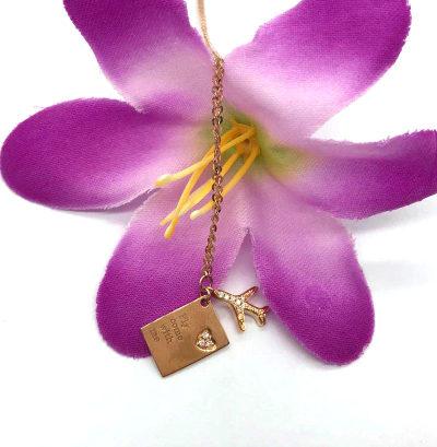 18K金玫瑰色钻石套链