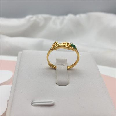 幸福独白 5G足金999素金戒指 字母戒指 个性时尚