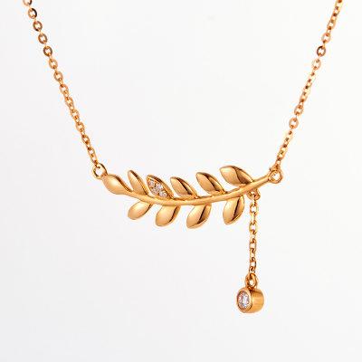 幸福森林 18k金玫瑰色钻石套链