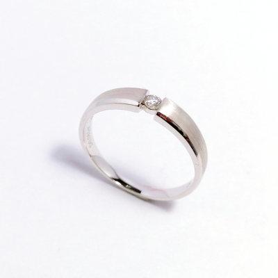 幸福左右18k金钻石男款戒指