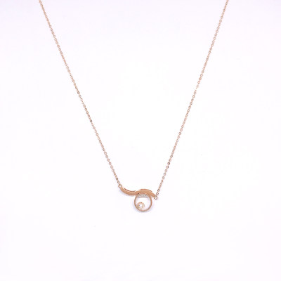 幸福探索者系列18K金玫瑰色钻石套链-001款式