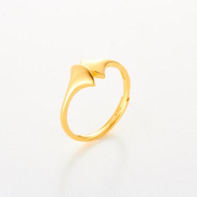 幸福亲恩 专柜正品 足金999-5G素金戒指 送女友