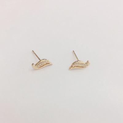 幸福梦想18K金玫瑰色钻石耳钉