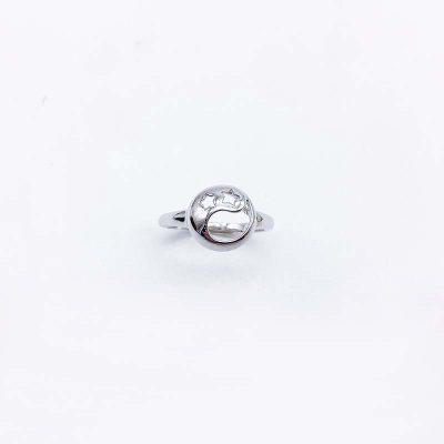 想起S925银素银戒指