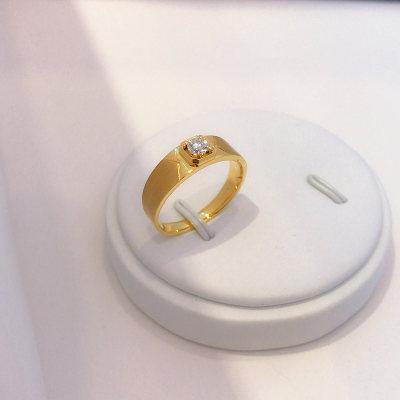 幸福英雄18K金玫瑰色钻石戒指