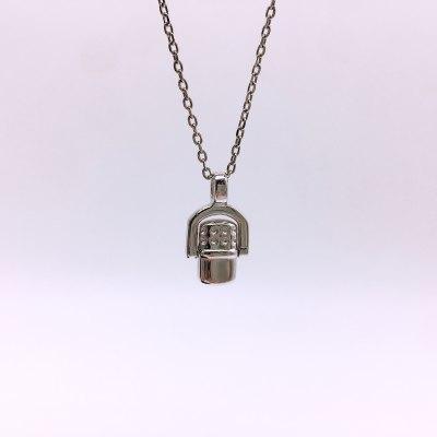 美银物语S925银素银吊坠