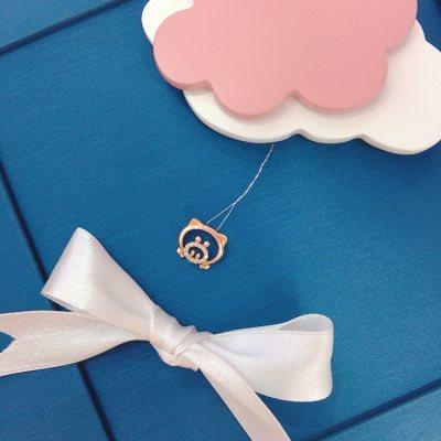 幸福小Q—玫瑰金钻石吊坠(猪)
