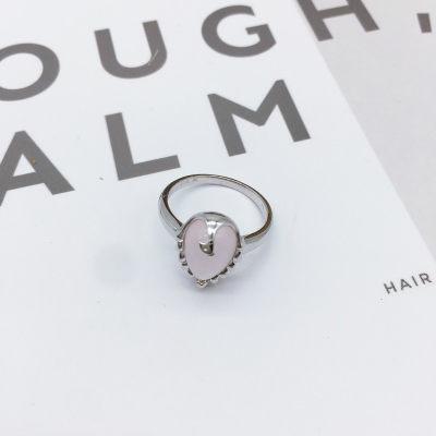 芙蓉之恋S925银粉晶戒指