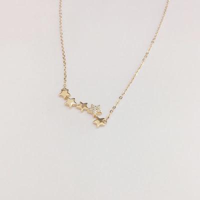 幸福梦想18K金玫瑰色钻石套链