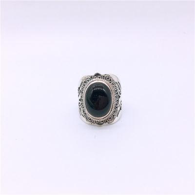 s925银玛瑙戒指