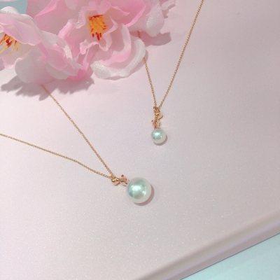 幸福一家人—玫瑰金珍珠项链