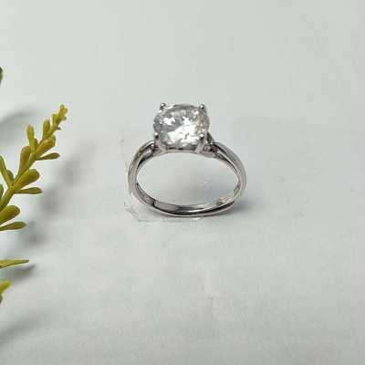S925银合成立方氧化锆戒指