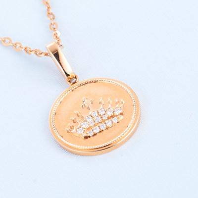 幸福达人 AU750金钻石套链 18K金群镶钻石项链女轻奢锁骨链吊坠节日情人节礼物