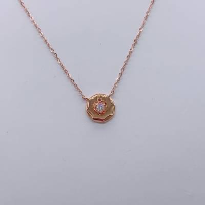 赋能幸福18k金玫瑰色钻石套链