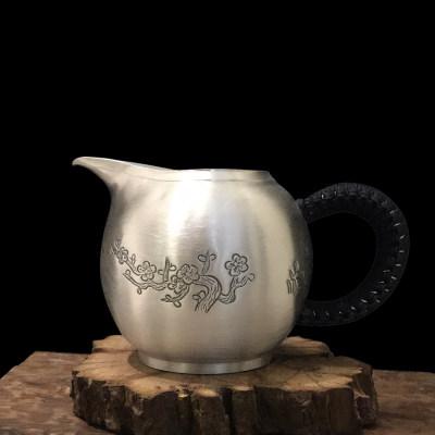 道之赋-) 足银本色茶具礼品-四季公道杯