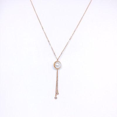 幸福真谛18K玫瑰色珍珠项链