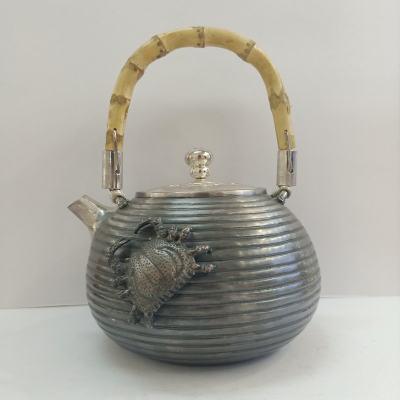 足银仿古茶具礼品-螃蟹提梁壶