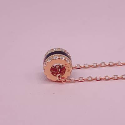 赋能幸福18k金玫瑰色素金套链