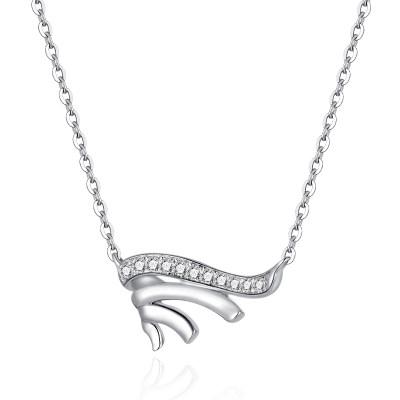 幸福梦想 18K金白色钻石项链