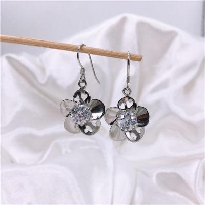 爱情女神 925银合成立方氧化锆耳坠/耳饰/耳环