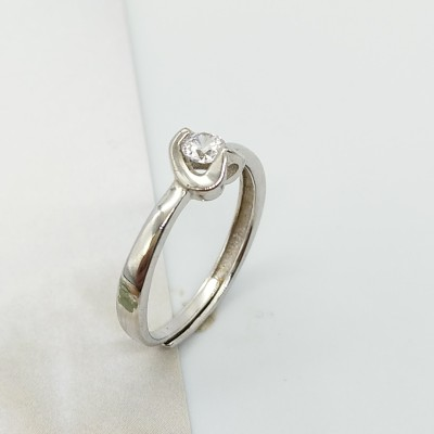S925银箭石镶嵌活口戒指