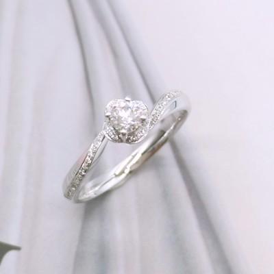信德缘幸福婚嫁 钻石女戒 戒指求婚结婚 专柜正品钻戒白18K金