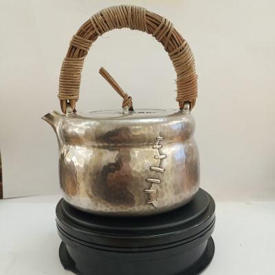 粼光-足银仿古茶具-侘寂提梁壶