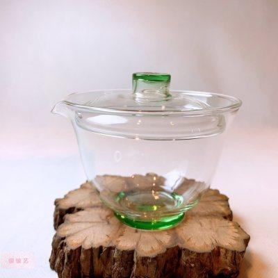 银玻艺 玻璃茶具盖碗