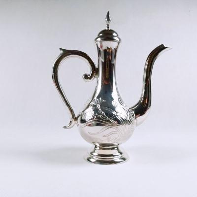 银酒赋-足银本色酒具兰花酒壶