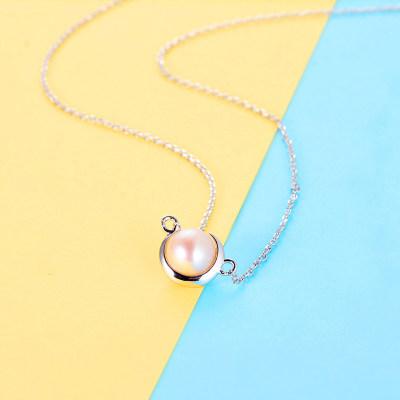 百缘百合 S925银珍珠套链