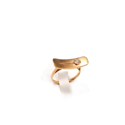 幸福左右18k金玫瑰色钻石戒指