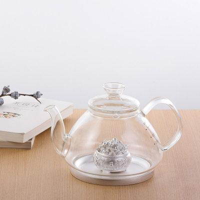 天官赐足银玻璃养生银壶-一鼓励鼓励系列赠电陶炉套装