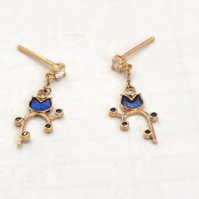 幸福存在专柜正品 18K金钻石耳饰 日常穿搭必备