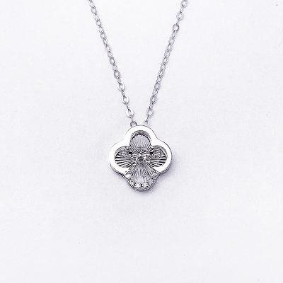 幸福珠宝专柜正品 幸福感悟 微幸福微幸福AU750金白色钻石套链