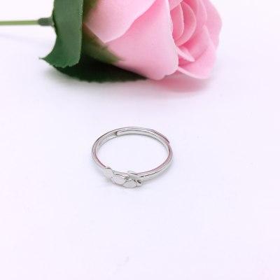 LCES925银素银活口戒指