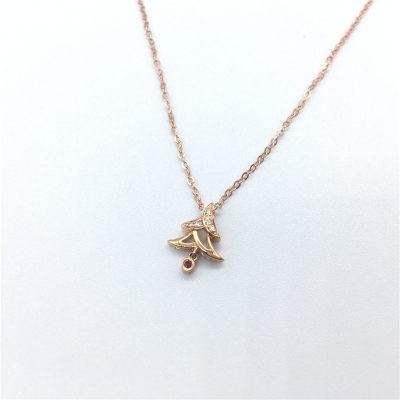 幸福圣诞AU750玫瑰色钻石套链