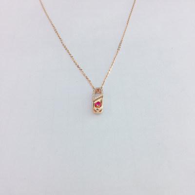 幸福百变18k金玫瑰色彩宝套链